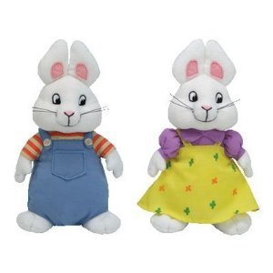 Max & Ruby Beanie Baby Bunnies, 6 Inch Size, by Ty Inc. by Ty Inc.