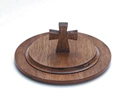 Handcrafted Maple Stacking Bread Plate Lid, Wipes Clean with Damp Cloth. -- Maple Wood Finish -- 7\