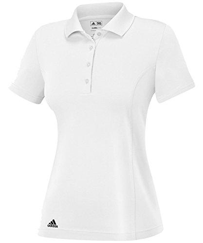 adidas Golf Women's Puremotion Jersey Polo, White/Black, X-Large
