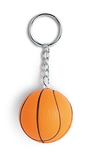 STOCK-LOTTO-50-PEZZI-Simpatico-portachiavi-antistress-anti-stress-a-forma-di-palla-pallone-da-basket