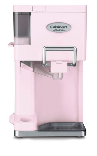 Cuisinart ICE-45PK Mix It In Soft Serve 1-1/2-Quart Ice Cream Maker, Pink