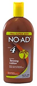 NO-AD Dark Tanning Lotion, SPF 4, 16 Oz