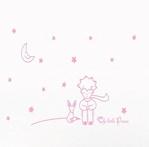RETUROM-Estrellas-de-la-luna-El-Principito-Boy-etiqueta-de-la-pared-Decoracin-Adhesivos-de-pared-CALIENTE
