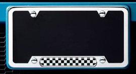 MINI Cooper Polished Checkerboard License Plate Frame (Mini Cooper 2009 Accessories compare prices)