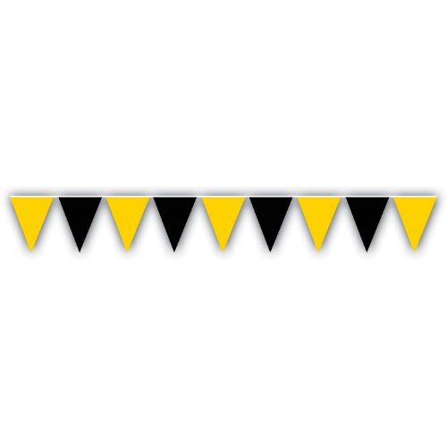 Black & Gold Outdoor Pennant Banner at Steeler Mania