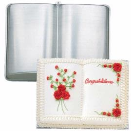 Open Book Cake Design : OPEN BOOK SHAPED CAKE TIN PAN MOULD CHRISTENING GRADUATION ...