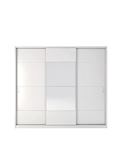 Manhattan Comfort NoHo 8-Drawer/3-Door Wardrobe, White