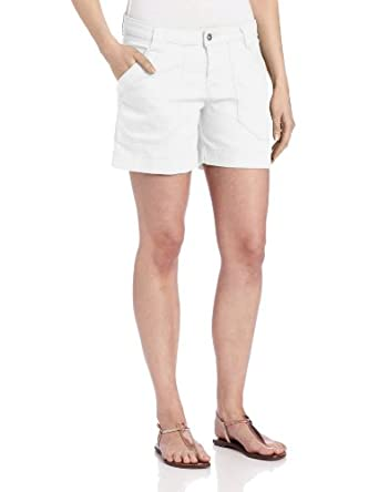 Dickies Women's Slub Twill Cargo Short, White, 8