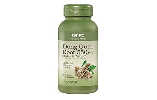 GNC Herbal Plus® Whole Herb Dong Quai Root 100 Vegetarian Capsules