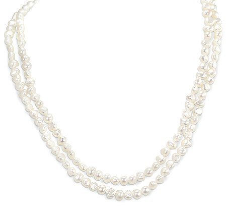 Cream Strand Fresh Water Baroque Pearls Necklace