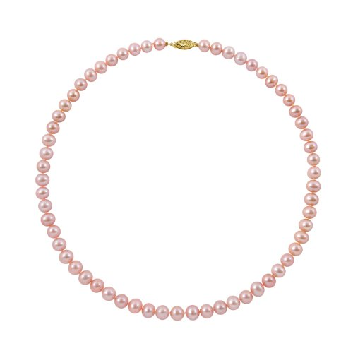 7-7.5mm 24 Inch Pink Freshwater Pearl Necklace
