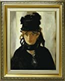 ベルト・モリゾの肖像 マネ F6サイズ  【油絵 直筆 複製画】【布張りキャンバス・ガラス板額縁付:サイズ553×465㎜】