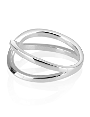 M&S Collection Finest Sterling Silver Twisted Multi-Strand Ring