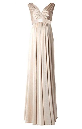 Femicuty Maternity Chiffon Bridesmaid Dresses Customized (Khaki)