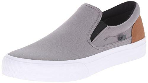 DC Shoes Trase Slip-On Uomo US 6 Grigio Scarpe Skate UK 5 EU 38