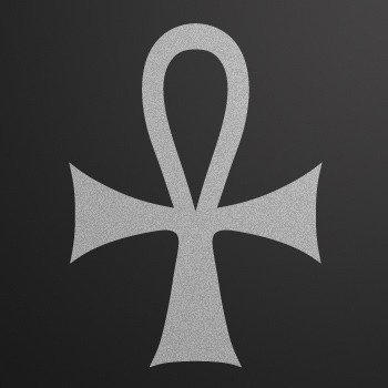 The Ankh... Silver-Matte (08 X 5.9 inch) XKR69