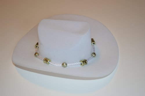 WHITE WESTERN COWGIRL HAT FOR AMERICAN GIRL DOLLS