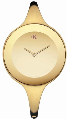 Calvin Klein Ladies Watch Mirror Gold, Size Xs, K2814209