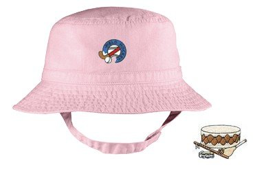 Embroidered Infant Bucket Cap with the image of: native instruments