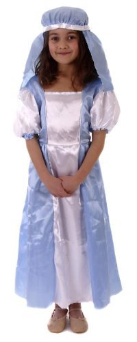 Davies Products Childrens Christmas Mary Fancy Dress Costume Age 4-6 (ha66)