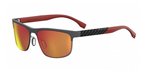 BOSS-by-Hugo-Boss-Mens-B0835s-Rectangular-Sunglasses-Gray-Carbon-RedRed-Sp-Polarized-58-mm