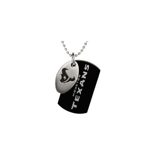 9 St Steel 45mm Houston Texans NFL Football Team Jewelry Men 2 Dog Tag W/Chain