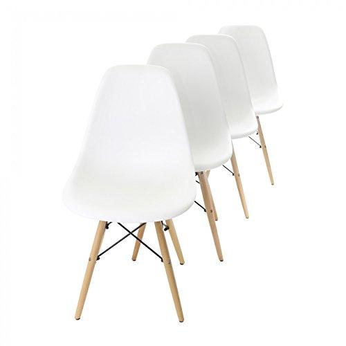 MY SIT Designerstuhl Beez 4er Set Weiß