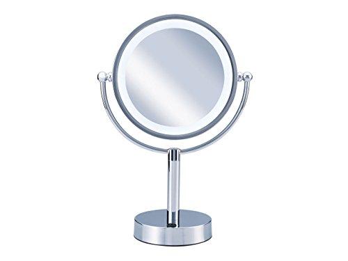 KOIZUMI 【Bijouna】アイメイク・毛穴ケアに LEDライト付き 拡大鏡 【1倍/5倍】大型φ170mm KBE-3000/S