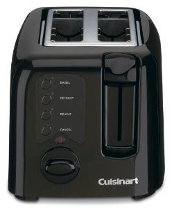 CUISINART 2-Slice Black Compact Toaster, CPT-122BKC