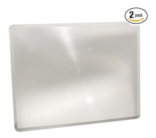 (2 Pack) ChefLand Full Page 3x Magnifier / Plastic Magnifying Sheet Fresnel Lens, 81/2 Inch x 11Inch - 1