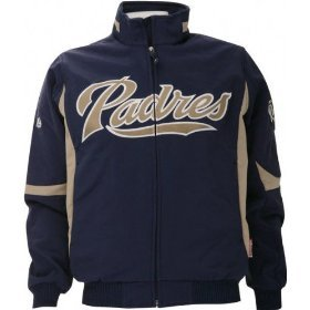 San Diego Padres Authentic Navy Dugout Therma Base Elevation Premier Jacket by Majestic