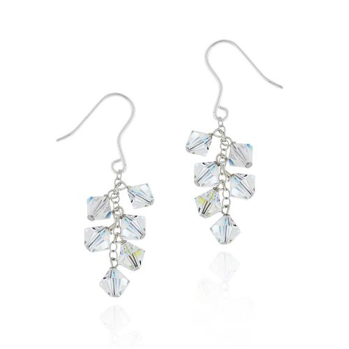 Sterling Silver Drop Earrings with Swarovski Elements