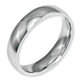Genuine IceCarats Designer Jewelry Gift Stainless Steel 5Mm Polished Band Size 10.50