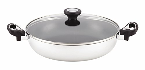 Farberware New Traditions Stainless Steel Nonstick 11-Inch Aluminum Covered Everything Pan
