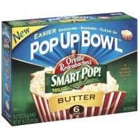 Orville Redenbacher, Pop-Up Bowl, Smart Pop!, Butter Flavored Microwave Popcorn, 17.4Oz Box (Pack Of 4)