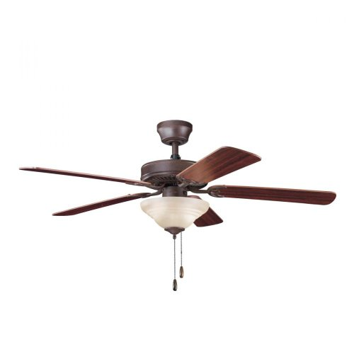 Kichler Lighting 339220Tz Sterling Manor Select Es 52-Inch Ceiling Fan, Tannery Bronze Finish With Reversible Cherry/Teak Blades And Light Kit front-96670