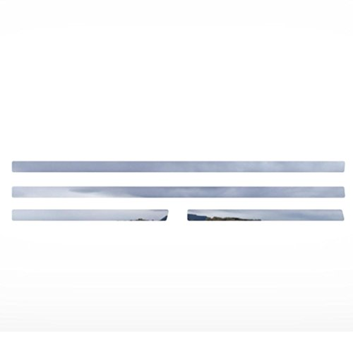 Polished Stainless Door Panel Trim fits: 2005-2010 Hummer H3 - Ferreus Industries - OTH-101-04