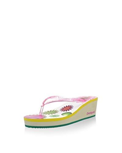 Desigual Sandalo Zeppa [Fucsia]
