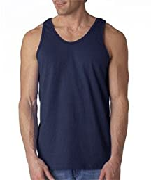 Gildan Adult 6.1 oz 100% Cotton Tank Top in Navy - Small
