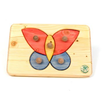 Picture of Fun Butterfly Peg Puzzle of Wood (B002LD4ZKK) (Pegged Puzzles)