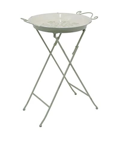 Three Hands Metal Tray Stand, Light Green