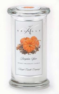 Kringle Candle Company Large Classic Apothecary Jar - Pumpkin Spice