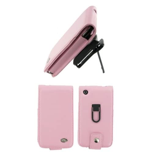 Apple iPhone 3G   Pink Premium Leather Flip Case with Removable Video Stand Rotating Belt Clip   Bundled with Screen Protector (Not Compatible with 1st Generation iPhone)