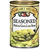 Margaret Holmes, Medium Seasoned Green Lima Beans, 15oz Can (Pack of 6)