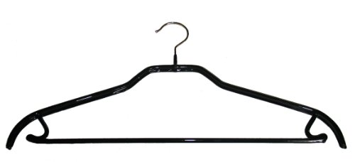 41/Frs Silhouette Hanger W/Pant Bar, 2-Pack, Black front-848457
