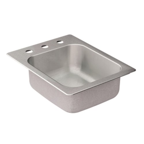 Moen G204573 2000 Series 20 Gauge Single Bowl Drop In Sink, Stainless Steel