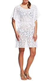 M&S Collection Crochet Cover-Up Belted Kaftan [T52-3317-S]