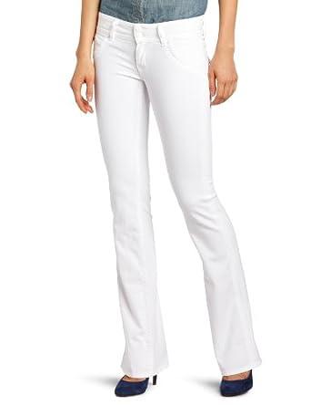Hudson Jeans Women's Petite Signature Boot Jean, White, 24