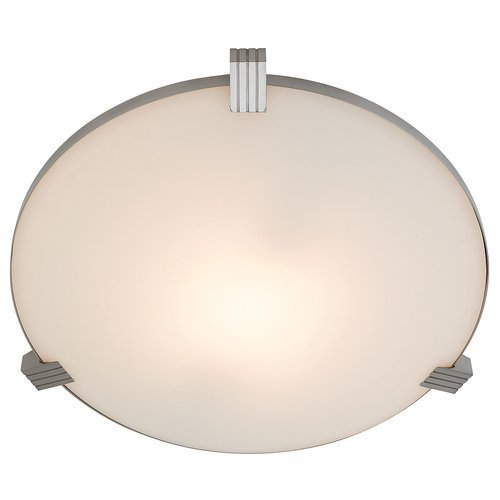 Access Lighting 50070-BS/WHT Luna Flush Mount Ceiling Light by Access Lighting