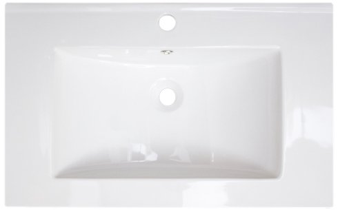American Imaginations 279 24-Inch by 18-Inch White Ceramic Top with Single Hole